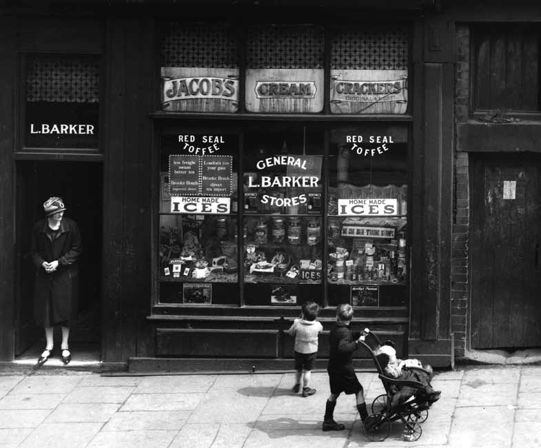 1940s Liverpool sweet shop